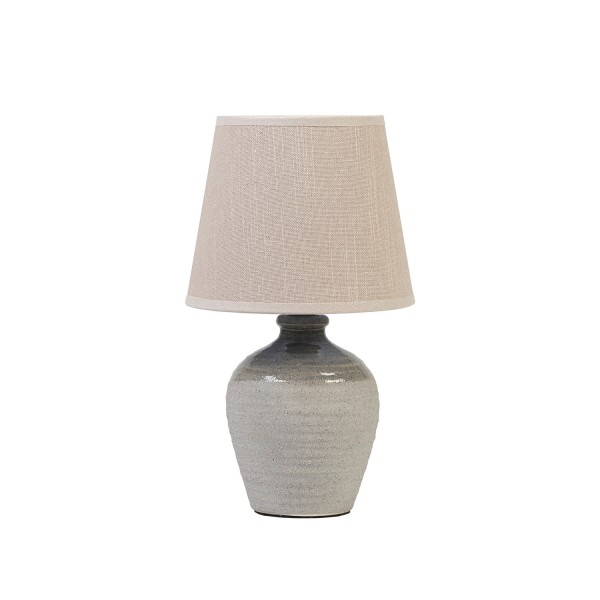 Speckled Urn I Lamp with Ivory Shade