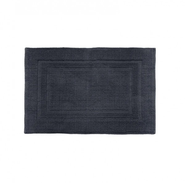 Cotton Deluxe Bath Mat by Bambury - Ink
