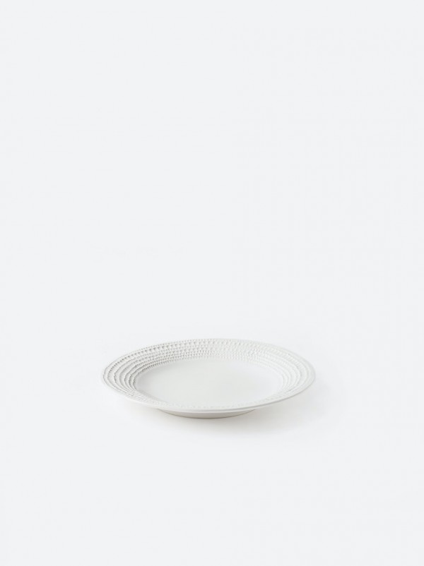Lagom Round Flat Platter - White