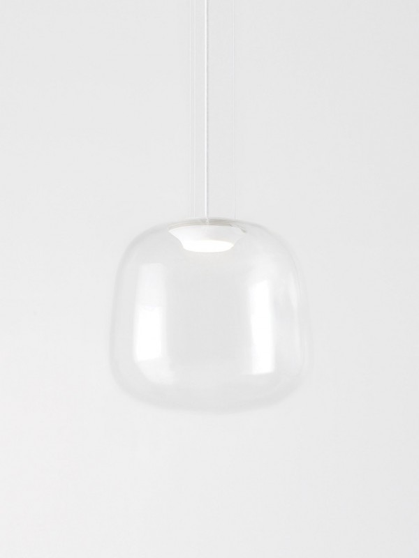 Clear Glass Pendant Light - Large