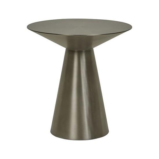 Elle Hourglass Side Table - Gunmetal