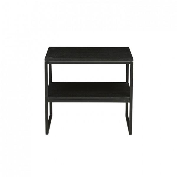 Baxter Shelf Side Table by GlobeWest - Dark Wenge