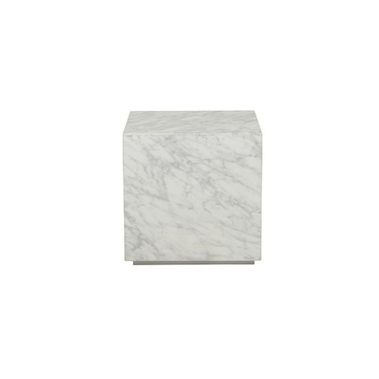 Elle Block Side Table - White