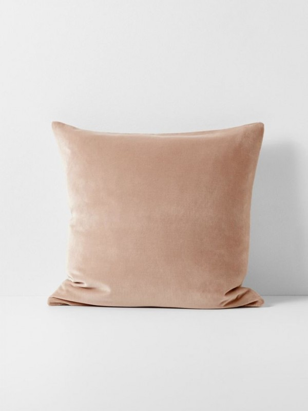 Luxury Velvet Cushion by Aura - Rosewater