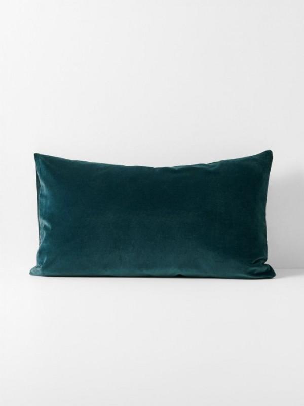 Luxury Velvet Indian Teal Standard Pillowcase Pair