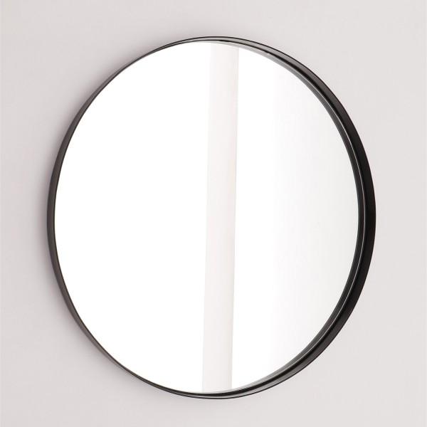 Nordic Round Mirror with Metal Frame - Matt Black
