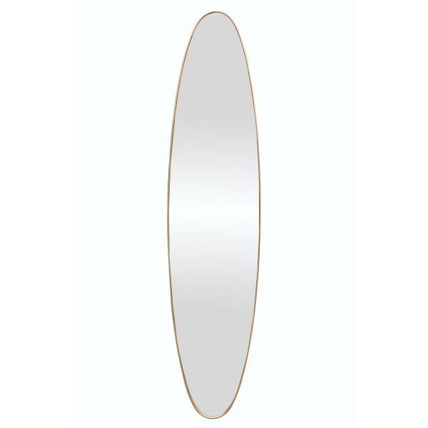 Oval Dress Mirror - Gold