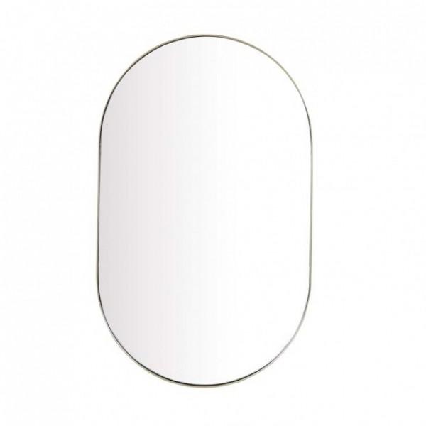 Elle Oval Mirror - Brushed Gold