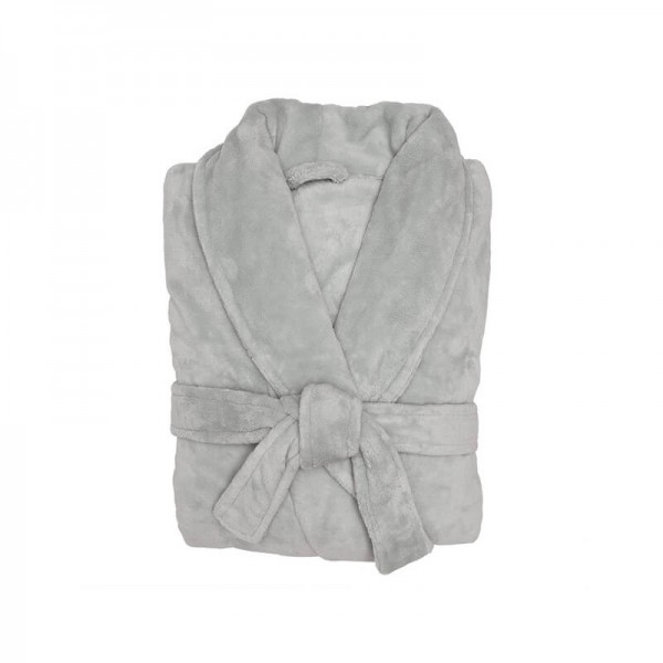 Microplush Robe - Silver