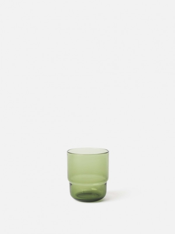 Piccadilly Glass Tumbler Olive - Set of 6