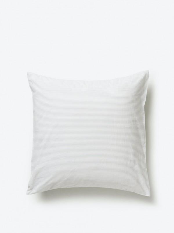 Pinstripe Organic Cotton Euro Pillowcase Pair