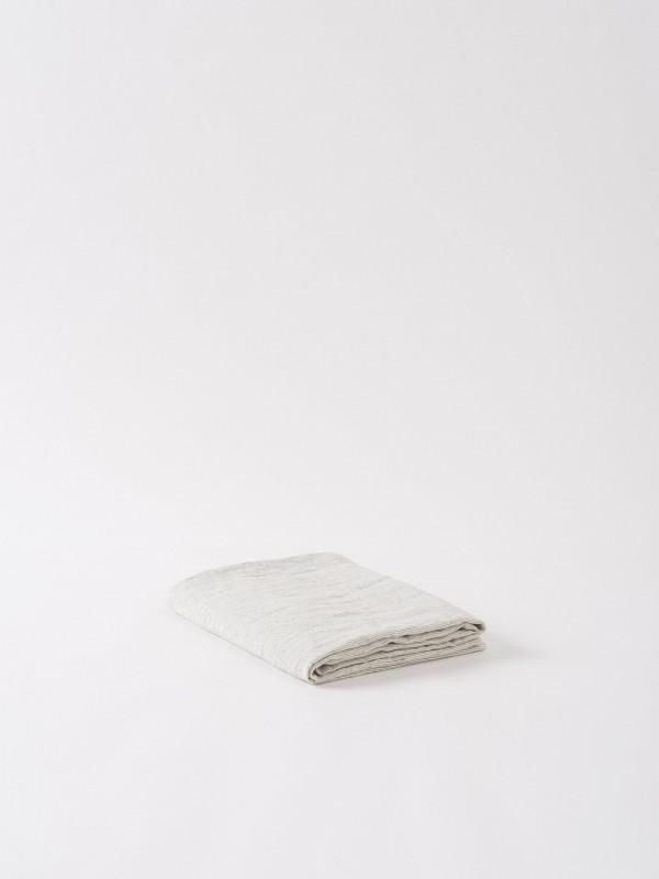Pinstripe 100% Linen Tablecloth