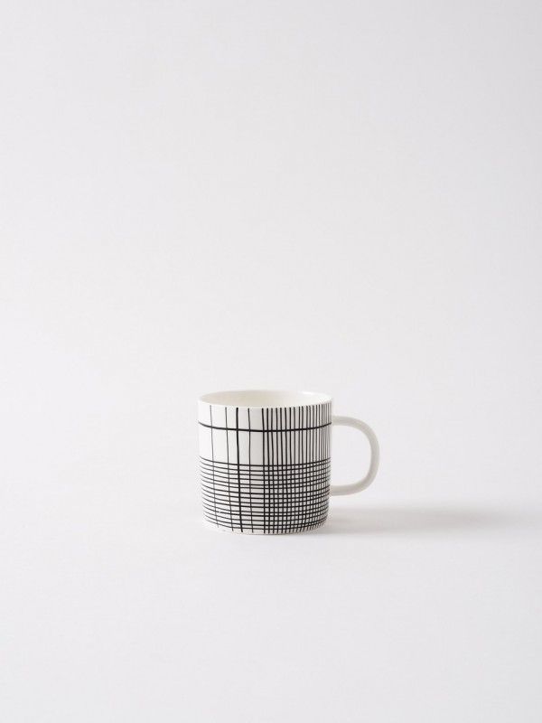 Plaid Coffee Cup - Set of 6