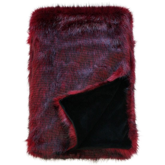 Heirloom Red Pheasant Faux Fur Throw