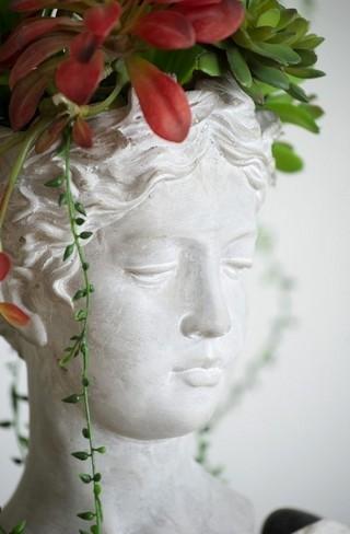 Visage Cement Vase Large