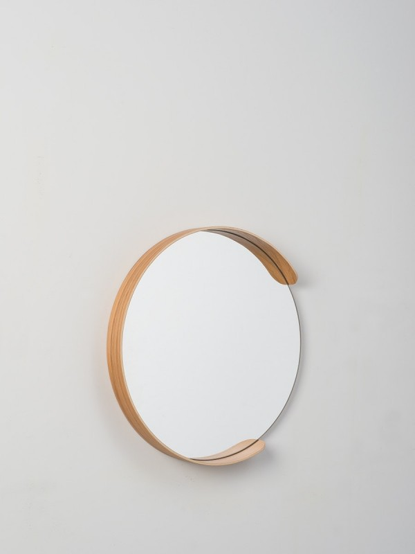 Segment Mirror Natural Oak - Large