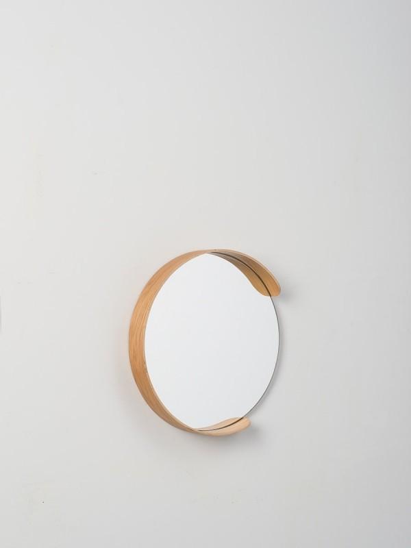 Segment Mirror - Natural Oak