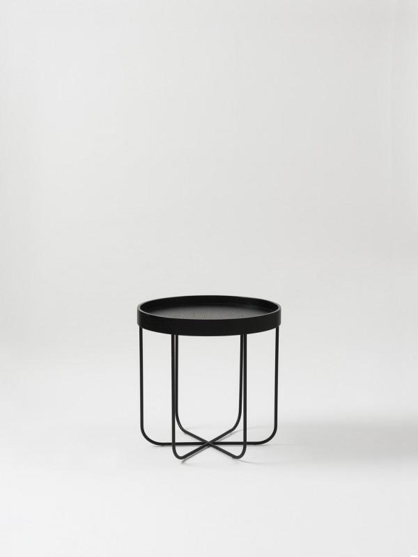 Segment Side Table - Black