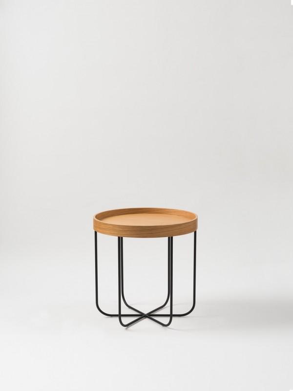 Segment Side Table - Natural Oak/Black