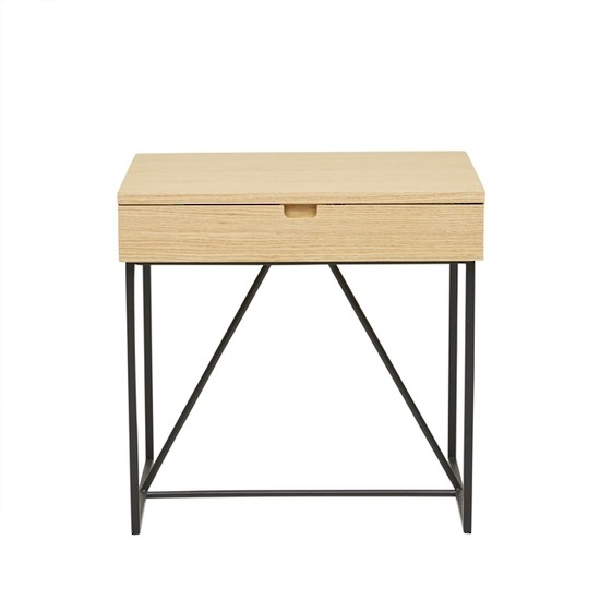 Bailey Bedside Natural Ash/Black
