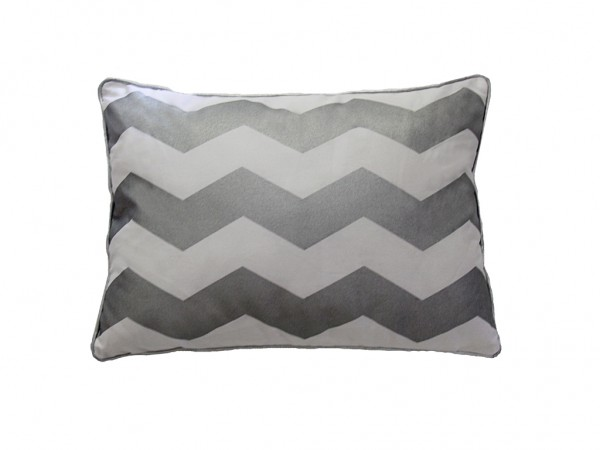 Silver Chevron Cushion
