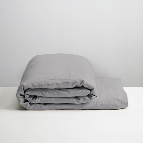 100% Linen Duvet Cover Smoke - NZ Made