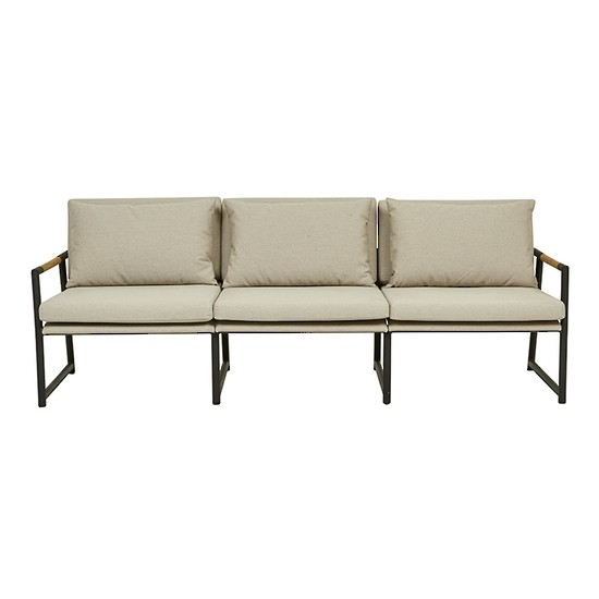 Antigua 3 Seater ( Outdoor) Black/Ash