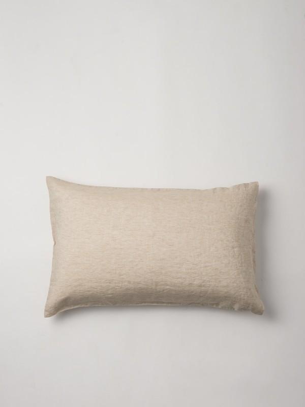 100% Linen Chambray Oatmeal Pillowcase Pair