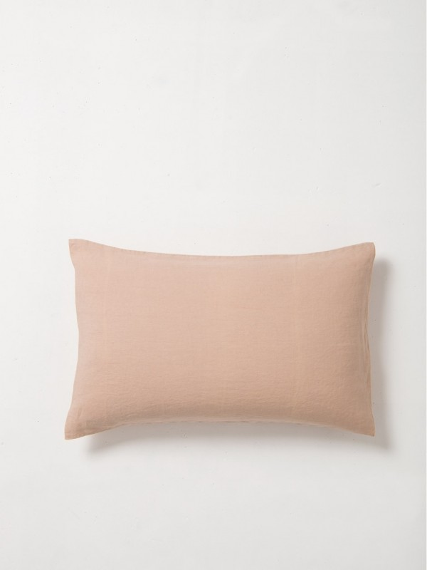100% Linen Pillowcase Pair - Iced Tea