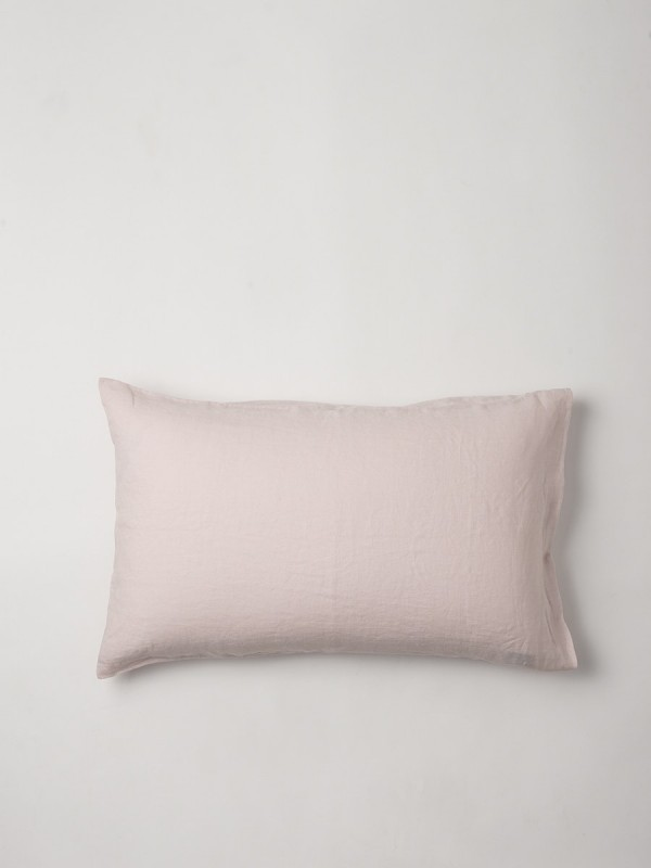 100% Linen Pillowcase Pair - Mushroom