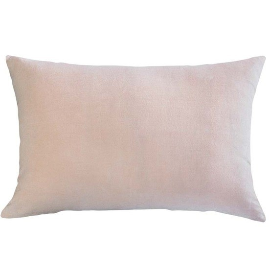 Mulberi Sovereign Velvet/Linen Cushion - Rose Quartz