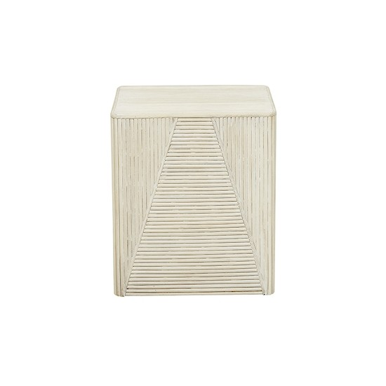 Harper Square Stool - Whitewash