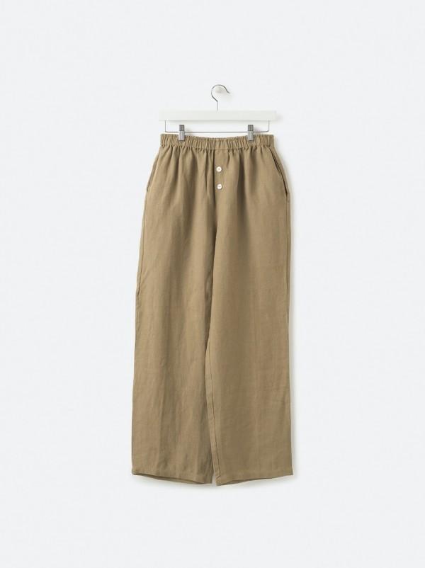 100% Linen PJ Pants - Pickle