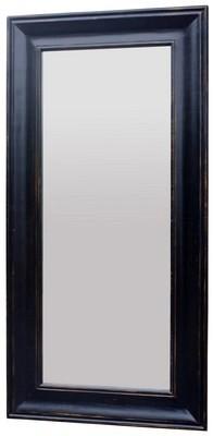 Solid Oak Long Mirror - Black