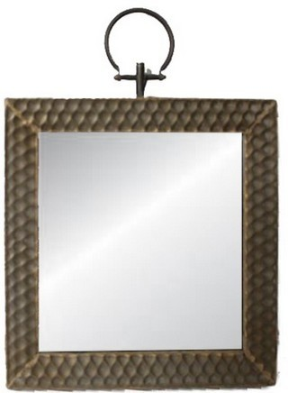 Square Mirror with Hook