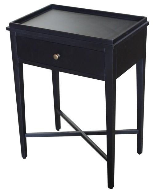 Bordeaux Bedside Table - Black Poplar