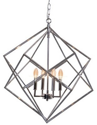 Hanging Geometric Light - Silver
