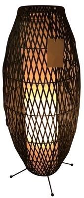 Rattan Table Lamp Black