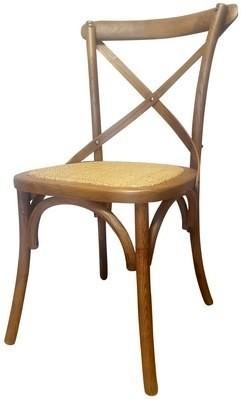 Cross Back Chair - Oak