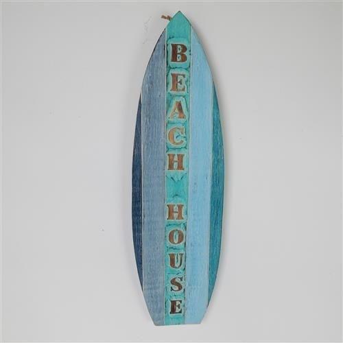 Beach House Surfboard Sign