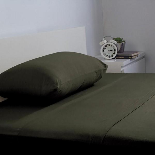 BedT 100% Cotton Sheet Set by Bambury - Olive