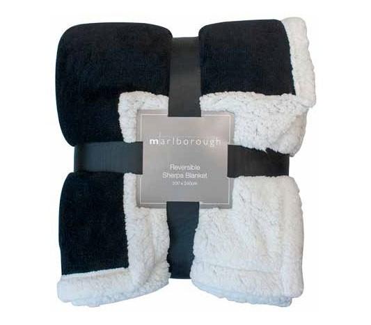 Black Sherpa Blanket