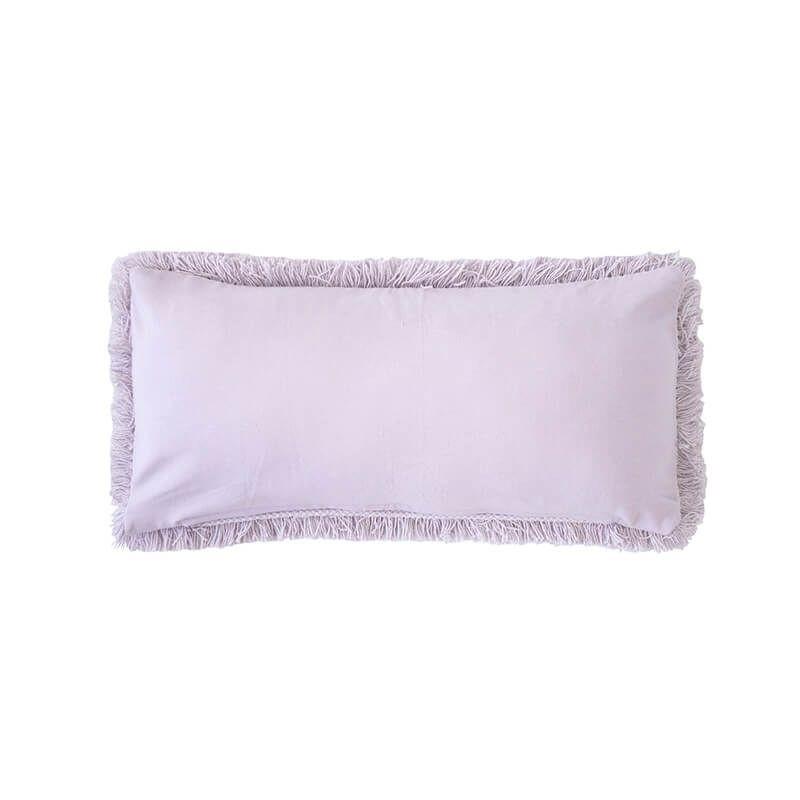 Asscher Long Cushion By Bambury Lilac