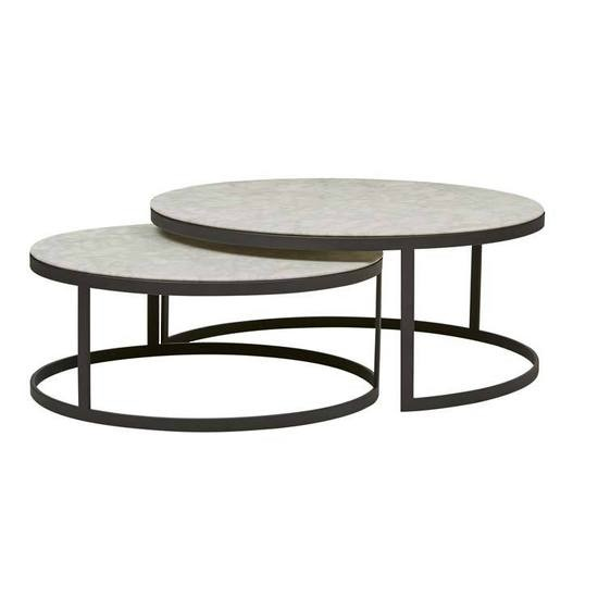 Elle Round Nest Flat Coffee Tables