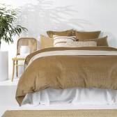 Sloane Duvet Cover Set by Bambury - Butterscotch