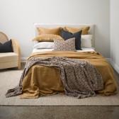 Linen Cinnamon Duvet Cover - NZ Made