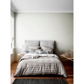 Heirloom Stripe Duvet Cover by Aura - Charcoal