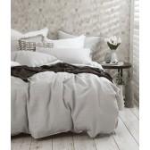 Laundered Linen Duvet Cover Set by MM Linen - Pewter