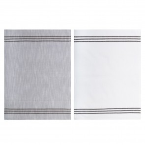 Triple Stripe Tea Towel - Set of 6