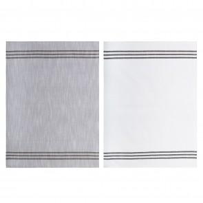 Triple Stripe Tea Towel - Set of 6